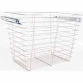 Closet Pullout Basket, Heavy Duty Wire Construction and 100 lb Rated Slides, Chrome, 23''W x 14''D x 17''H