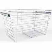 Closet Pullout Basket, Heavy Duty Wire Construction and 100 lb Rated Slides, Chrome, 29''W x 14''D x 17''H