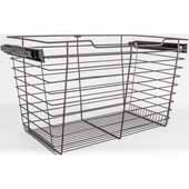 Closet Pullout Basket, Heavy Duty Wire Construction and 100 lb Rated Slides, Dark Bronze, 29''W x 16''D x 17''H