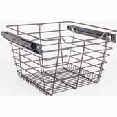 Closet Pullout Basket, Heavy Duty Wire Construction and 100 lb Rated Slides, Dark Bronze, 17''W x 16''D x 11''H