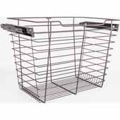 Closet Pullout Basket, Heavy Duty Wire Construction and 100 lb Rated Slides, Dark Bronze, 17''W x 16''D x 17''H