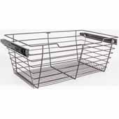 Closet Pullout Basket, Heavy Duty Wire Construction and 100 lb Rated Slides, Dark Bronze, 23''W x 16''D x 11''H