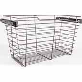 Closet Pullout Basket, Heavy Duty Wire Construction and 100 lb Rated Slides, Dark Bronze, 23''W x 16''D x 17''H