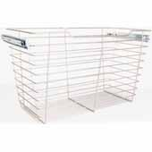 Closet Pullout Basket, Heavy Duty Wire Construction and 100 lb Rated Slides, Satin Nickel, 23''W x 16''D x 17''H