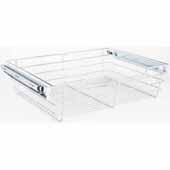 Closet Pullout Basket, Heavy Duty Wire Construction and 100 lb Rated Slides, Chrome, 23''W x 16''D x 6''H