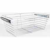 Closet Pullout Basket, Heavy Duty Wire Construction and 100 lb Rated Slides, Chrome, 29''W x 16''D x 11''H
