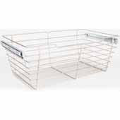 Closet Pullout Basket, Heavy Duty Wire Construction and 100 lb Rated Slides, Satin Nickel, 29''W x 16''D x 11''H