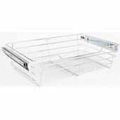 Closet Pullout Basket, Heavy Duty Wire Construction and 100 lb Rated Slides, Satin Nickel, 29''W x 16''D x 6''H