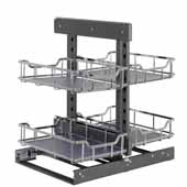Storage with Style 15'' W Full Blind Corner Organizer in Polished Chrome, 26-3/4'' W x 22-1/8'' D x 20-1/4'' H