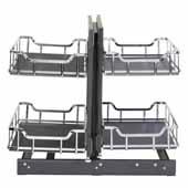Storage with Style 15'' W Standard Blind Corner Organizer in Polished Chrome, 26-3/4'' W x 22-1/8'' D x 20-1/4'' H