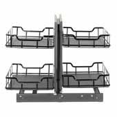 Storage with Style 18'' W Standard Blind Corner Organizer in Brushed Nickel, 32-7/8'' W x 22-1/8'' D x 24-1/16'' H