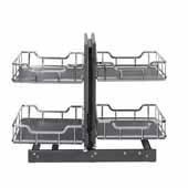 Storage with Style 18'' W Standard Blind Corner Organizer in Polished Chrome, 32-7/8'' W x 22-1/8'' D x 24-1/16'' H