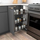 Storage with Style™ 5'' Wire Base Pullout in Black Nickel Frame, For 6'' Minimum Cabinet Opening, 5-15/16'' W x 21-5/16'' D x 24-1/16'' H