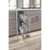 Storage with Style™ 5'' Wire Base Pullout in Polished Chrome Frame, For 6'' Minimum Cabinet Opening, 5-15/16'' W x 21-5/16'' D x 24-1/16'' H