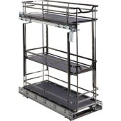 Storage with Style™ 8'' Wire Base Pullout in Black Nickel Frame, For 9'' Minimum Cabinet Opening, 8-15/16'' W x 21-5/16'' D x 24-1/16'' H