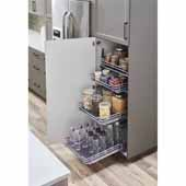 STORAGE WITH STYLE � Wire Pullout Basket for 15'' Cabinet Opening, Polished Chrome, 14-1/2''W x 22''D x 4-1/4''H