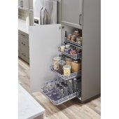 Storage with Style™ Wire Pullout Basket in Polished Chrome, For 21'' Minimum Cabinet Opening, 9-9/16'' W x 22-1/16'' D x 5-7/16'' H