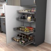 Storage with Style™ Wire Pullout Basket in Black Nickel, For 27'' Minimum Cabinet Opening, 25-9/16'' W x 22-1/16'' D x 5-7/16'' H