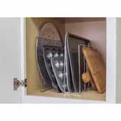 U-Shaped Tray Divider, Polished Chrome, 3-7/16''W x 11-3/4''D x 9-15/16''H