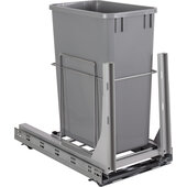 Wire Single 35qt Trash Can Pullout with Soft-close Slides In Polished Chrome, 11-1/2'' W x 21-13/16'' D x 20-11/16'' H