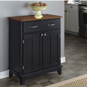 Mix & Match Buffet Server with Black Base and Cottage Oak Top, 29-1/4'' W x 15-7/8'' D x 35-1/2''H
