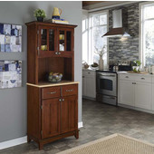 Mix and Match Cherry buffet server with 2 door hutch and natural top