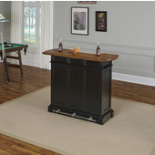 Americana Bar, Black/Oak Finish, 52'' W x 21'' D x 42''H