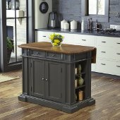 48'' Wide Americana Kitchen Island in Grey, 48'' W x 26'' D x 36'' H