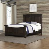 Prairie Home Queen Bed, Black Oak Finish, 67-1/2''W x 92-1/2''D x 60''H