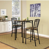 Modern Craftsman 3-Piece Bistro Set, Oak/Brown