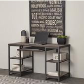 Barnside Metro Pedestal Desk, Gray Driftwood