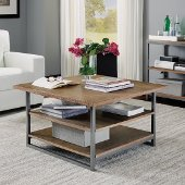 Barnside Metro Square Coffee Table, Driftwood, 36'' W x 36'' D x 20-1/4'' H