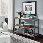 Barnside Metro Console Table, Driftwood, 44'' W x 16'' D x 30'' H