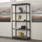 Barnside Metro 5-Tier Shelf, Gray, 38''W x 15-3/4''D x 76''H