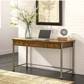 The Orleans Executive Desk, 56'' W x 24'' D x 30'' H, Vintage Caramel Finish