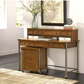 The Orleans Executive Desk, Hutch and Mobile File, Vintage Caramel Finish