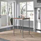 Orleans Caramel Wood Top Bar Table, Grey, 30''W x 30''D x 42''H
