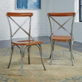 Orleans Pair of Side Chairs, Caramel, 18'' W x 18'' D x 35'' H