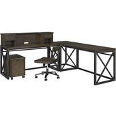 Xcel Home Office 6 Piece Ensemble, Copper Finish, 78''W x 78''D x 43''H