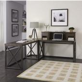 Xcel Home Office Ensemble, Copper Finish, 78''W x 78''D x 43''H