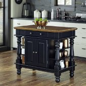 42-1/4'' Wide Americana Black Kitchen Island in Black, 42-1/4'' W x 24-3/4'' D x 36'' H