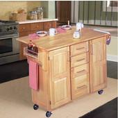Kitchen Center with Breakfast Bar, 52-1/2'' W x 18'' D x 36'' H