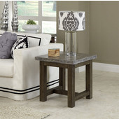 Concrete Chic End Table, Brown/Gray, 22'' W x 22'' D x 22'' H