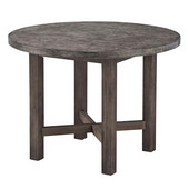 Concrete Chic Round Dining Table, 41-1/2'' W x 41-1/2'' D x 30'' H, Weathered Brown Finish