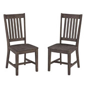 Concrete Chic Dining Chairs, Sold as Set of 2, 17-3/4'' W x 30'' D x 40'' H, Weathered Brown Finish
