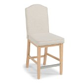 Cambridge Counter Stool, White Washed/ Nickel, 18'' W x 25'' D x 43-3/4'' H