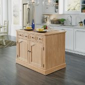 Cambridge Kitchen Island with Wood Top, White Washed, 47-1/4'' W x 30'' D x 36-1/4'' H