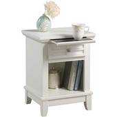 Arts & Crafts Night Stand, 18'' W x  16'' D x  24'' H, White