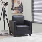Taylor Upholstered Club Chair, Black, 32-1/4''W x 35''D x 34-1/2''H
