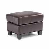Bradley Upholstered Ottoman, Dark Brown, 24''W x 18''D x 17-3/4''H
